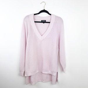 Express light lavender knit oversized sweater